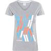 Cube Team T-Shirt Damen grey'n'blue'n'coral